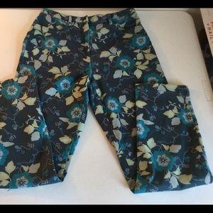 SIGRID OLSEN Sports ~ Floral Jeans